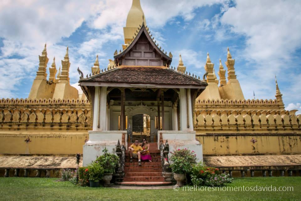 Vientiane, Laos: capital mais descontraída da Ásia.