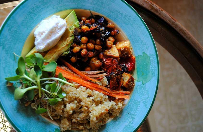 prato com comida tradicional de Joanesburgo, África do Sul