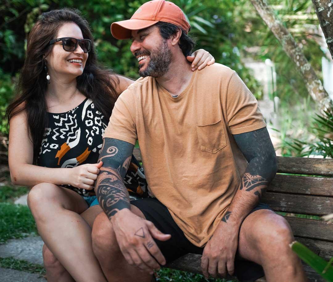 casal viajando o mundo Vagner Alcantelado e Babi Rocha