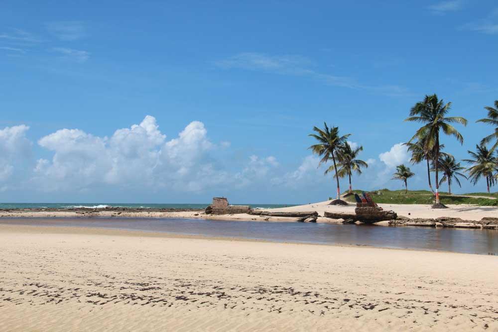 praia vazia, durante o dia, em Pipa
