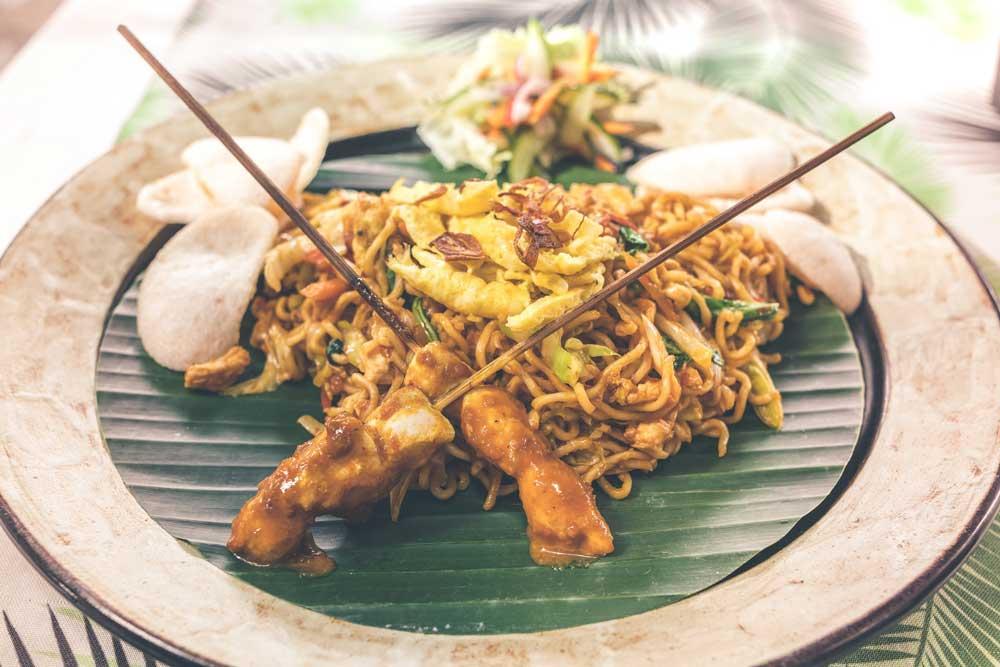 prato típico de ilha de bali