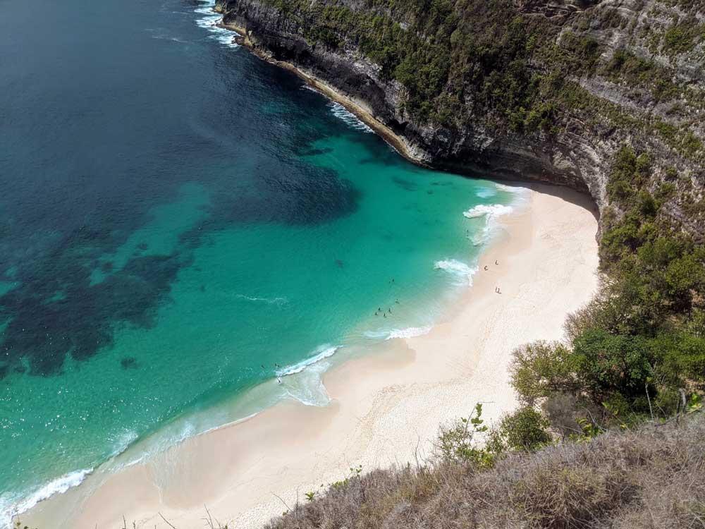 vista aérea de praia