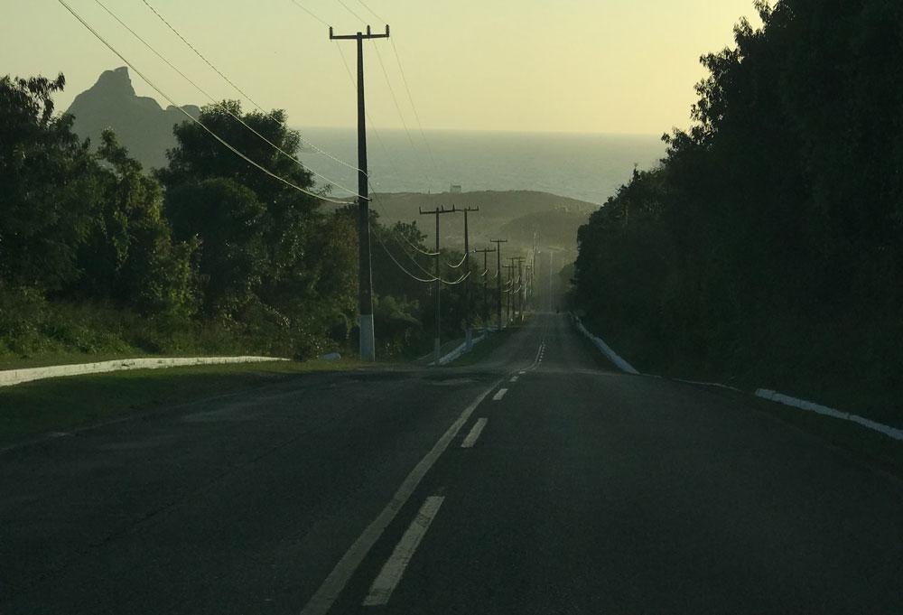 Estrada em Fernando de Noronha