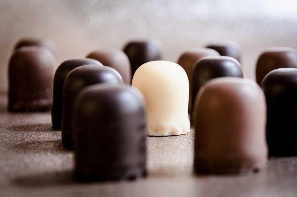 Bombons vendidos nas fábricas de Chocolate em Gramado e Canela
