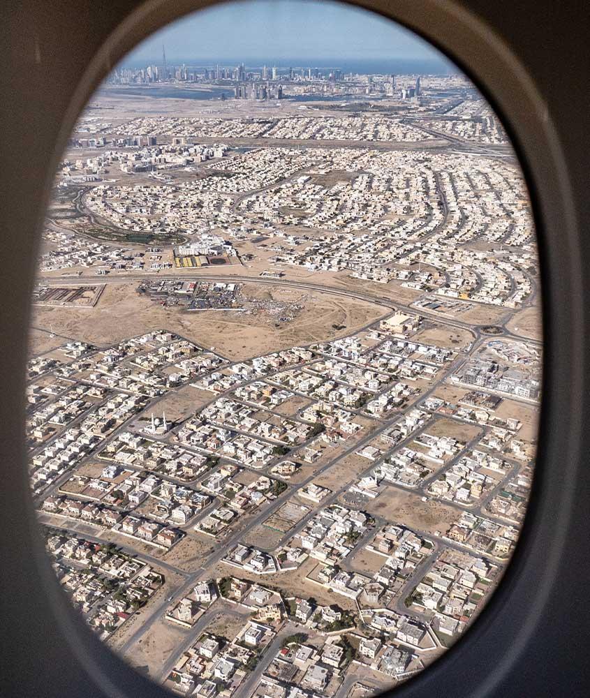 vista aérea de cidade em África do Sul