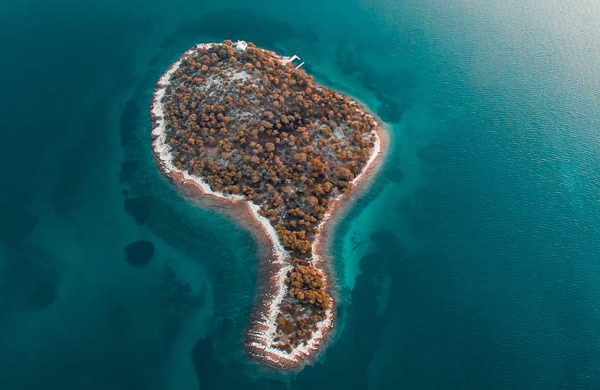 vista aérea de ilha