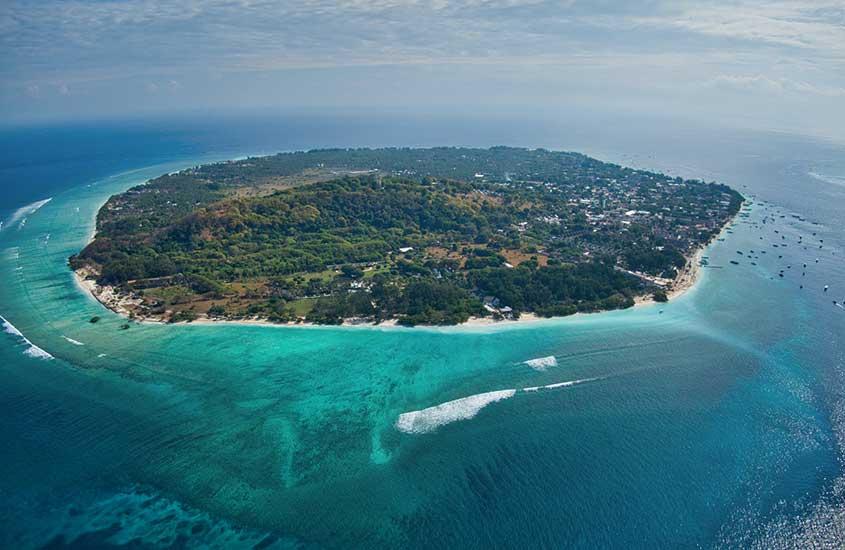 vista aérea de Ilhas Gili, durante o dia