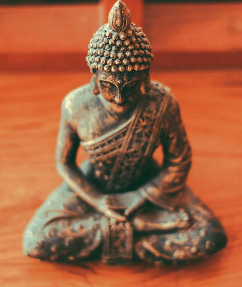 estatua em templo Sociedade Budista Tibetana, uma visita incrível para quem busca o que fazer em Vargem Grande rj