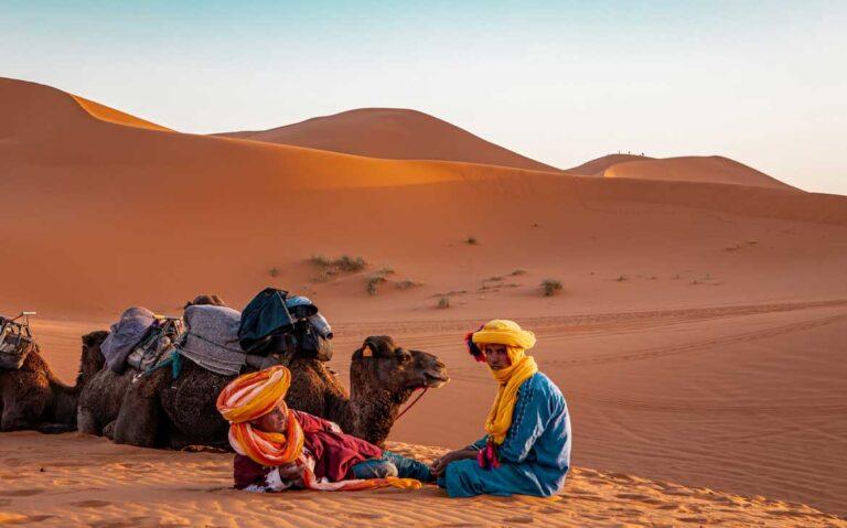 homem camelo marrocos