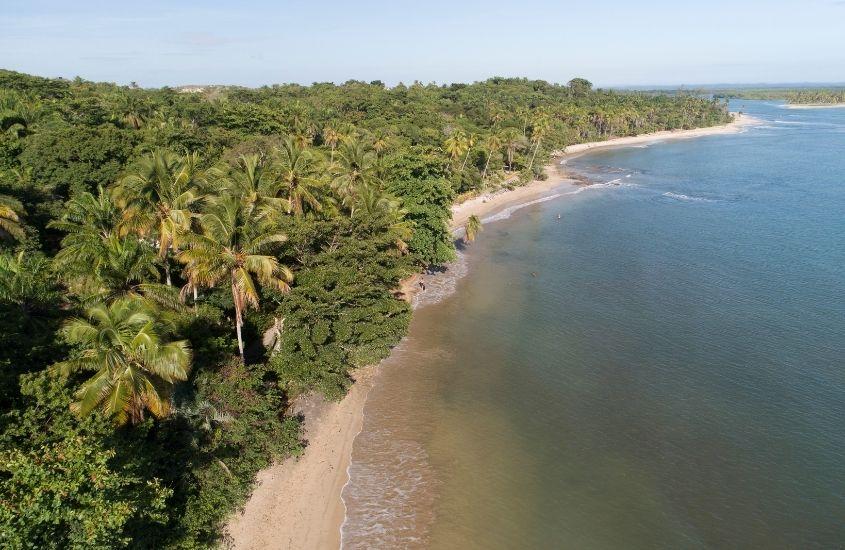 Vista aérea da Praia da Boca da Barra