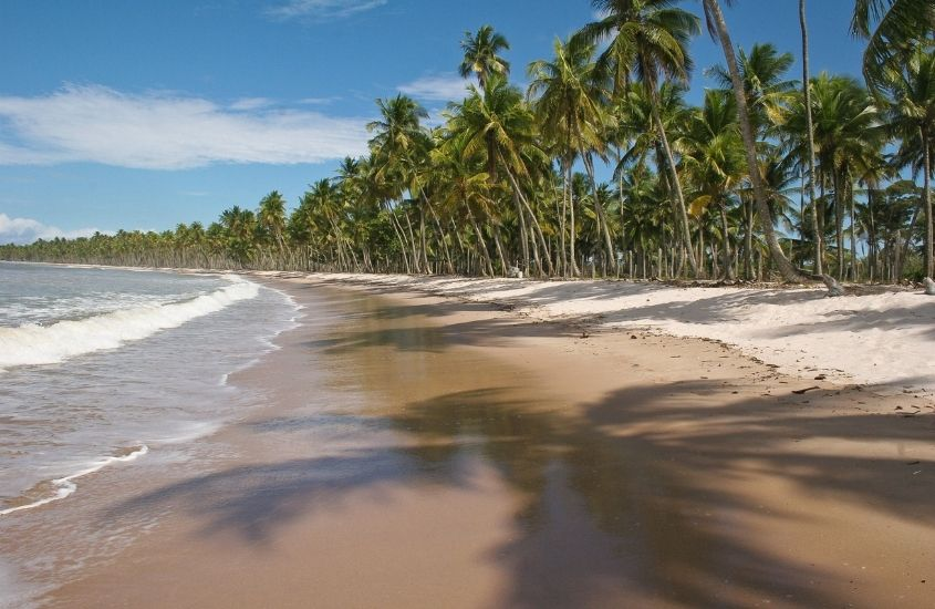 mar, areia e coqueiros em Tassimirm, uma opção para quem busca o que fazer em Boipeba