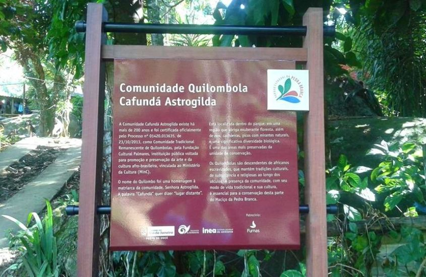 Entrada da Comunidade Quilombola Cafundá Astrogilda, uma visita incrível para quem busca o que fazer em Vargem Grande