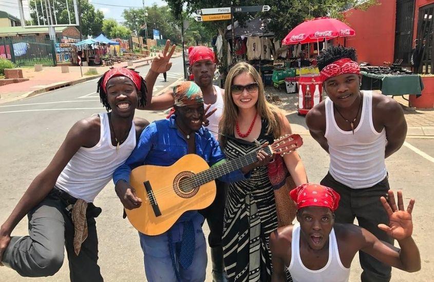 Foto em grupos, artistas, Soweto, África