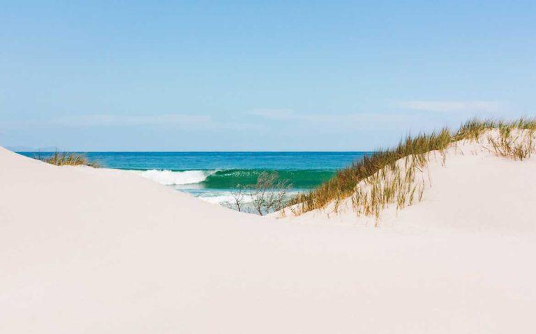 areia e mar de praia da África do Sul