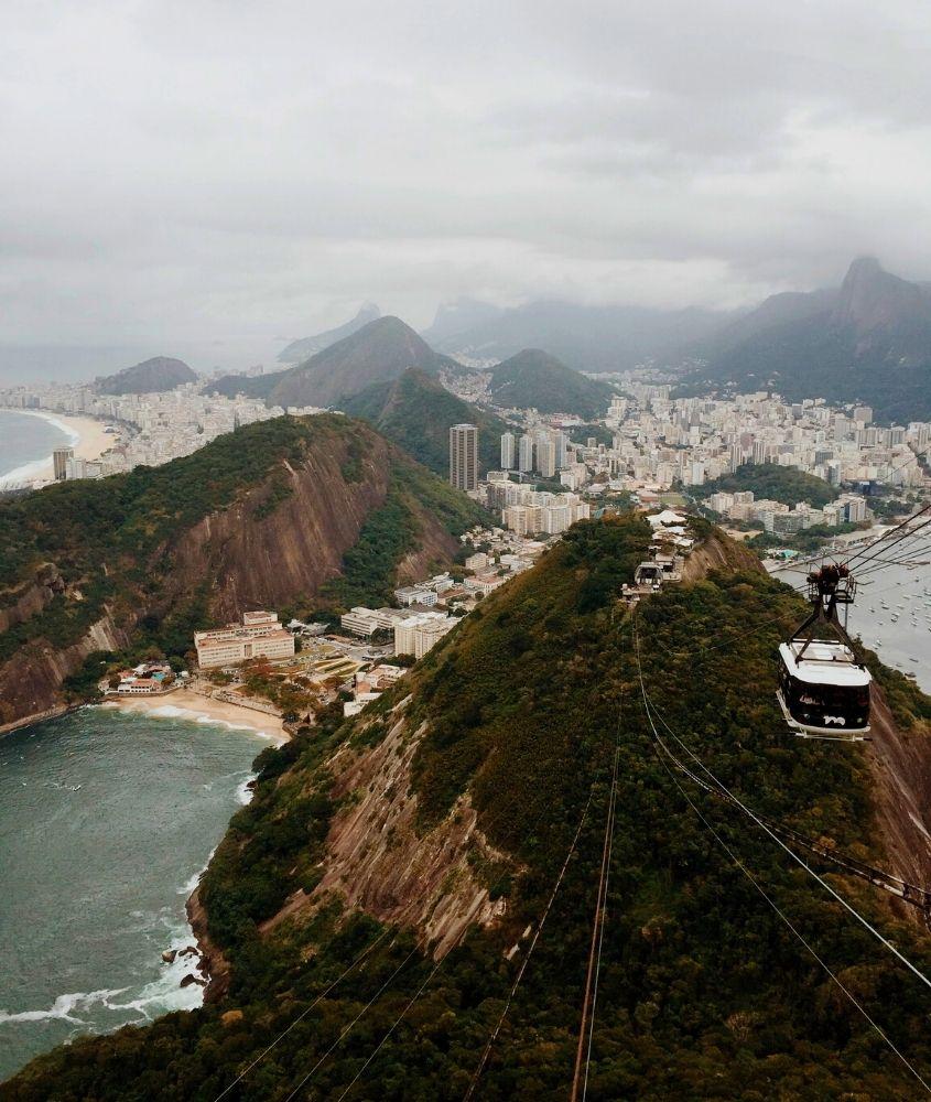 bondinho e morro do pão de açúcar, um dos lugares mais bonitos do Rio de Janeiro